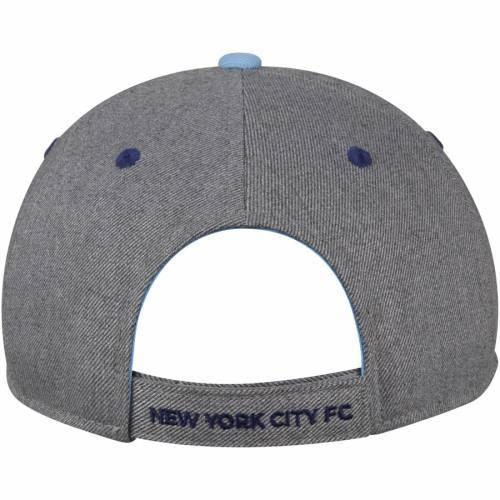 アディダス ADIDAS シティ 青 ブルー バッグ キャップ 帽子 メンズキャップ メンズ 【 New York City Fc Two-tone Structured Adjustable Hat - Gray/light Blue 】 Gray/light Blue