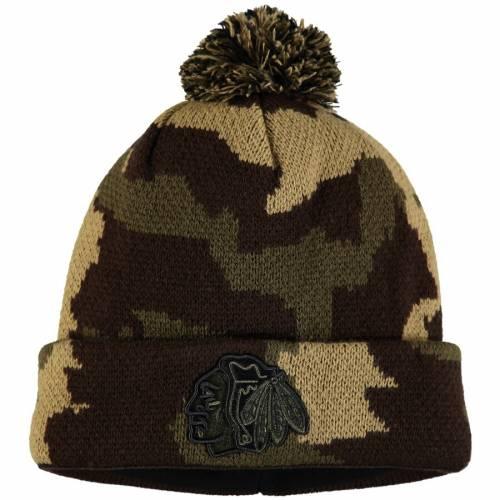 FANATICS BRANDED シカゴ ニット バッグ キャップ 帽子 メンズキャップ メンズ 【 Chicago Blackhawks Rank Knit Hat - Camo 】 Camo