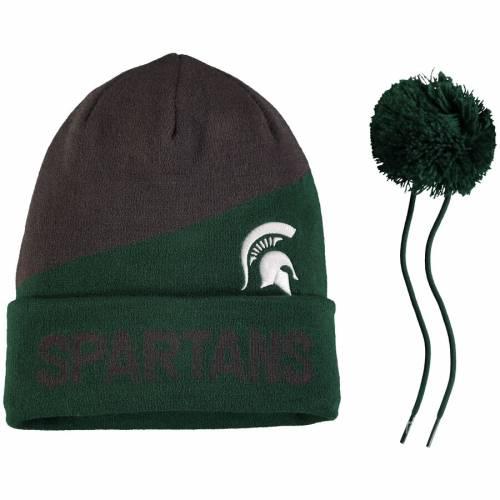 ナイキ NIKE ミシガン スケートボード ニット キャップ 帽子 バッグ メンズキャップ メンズ 【 Michigan State Spartans Champ Drive Pom Knit Beanie - Charcoal/green 】 Charcoal/green