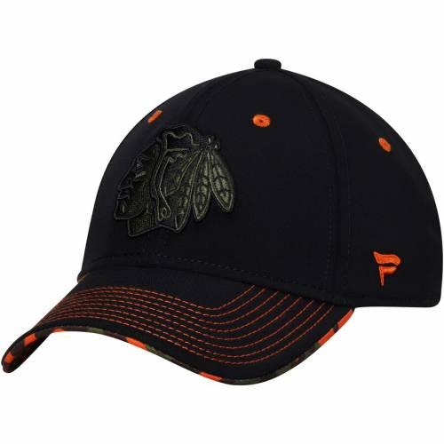 FANATICS BRANDED シカゴ 黒 ブラック バッグ キャップ 帽子 メンズキャップ メンズ 【 Chicago Blackhawks Recon Flex Hat - Black 】 Black