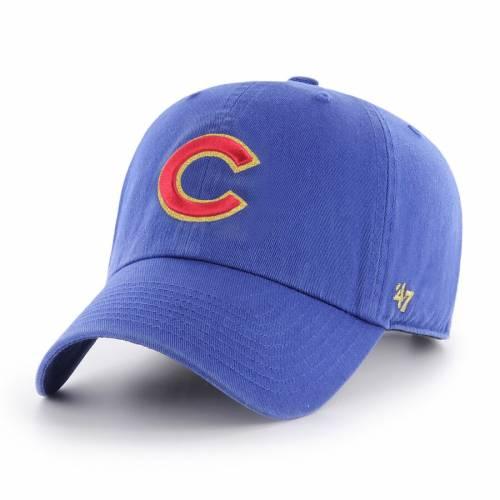 '47 シカゴ カブス バッグ キャップ 帽子 メンズキャップ メンズ 【 Chicago Cubs 2017 Gold Program Cleanup Adjustable Hat - Royal 】 Royal