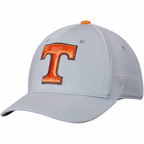 TOP OF THE WORLD テネシー インパクト 灰色 グレー グレイ バッグ キャップ 帽子 メンズキャップ メンズ 【 Tennessee Volunteers Impact 1fit Flex Hat - Gray 】 Gray