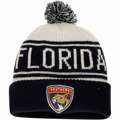 FANATICS BRANDED フロリダ パンサーズ クラシック ニット 白 ホワイト バッグ キャップ 帽子 メンズキャップ メンズ 【 Florida Panthers True Classic Z Route Cuffed Knit Hat With Pom - White 】 White