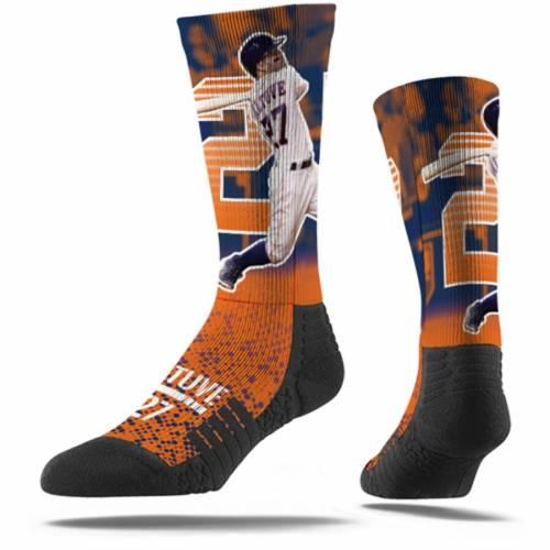STRIDELINE ヒューストン アストロズ ソックス 靴下 橙 オレンジ インナー 下着 ナイトウエア メンズ 下 レッグ 【 Jose Altuve Houston Astros Full Sublimated Player Crew Socks - Orange 】 Orange
