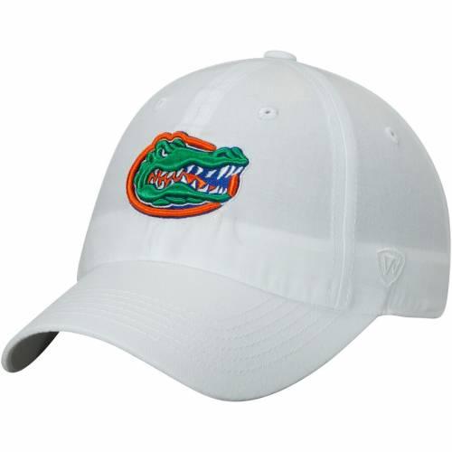 TOP OF THE WORLD フロリダ ロゴ 橙 オレンジ バッグ キャップ 帽子 メンズキャップ メンズ 【 Florida Gators Primary Logo Staple Adjustable Hat - Orange 】 White