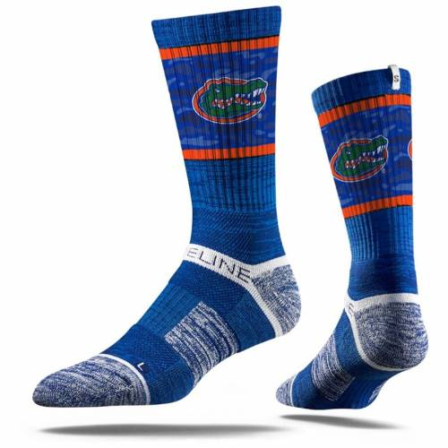 STRIDELINE フロリダ ロゴ ソックス 靴下 インナー 下着 ナイトウエア メンズ 下 レッグ 【 Florida Gators Primary Logo Crew Socks - Royal 】 Royal