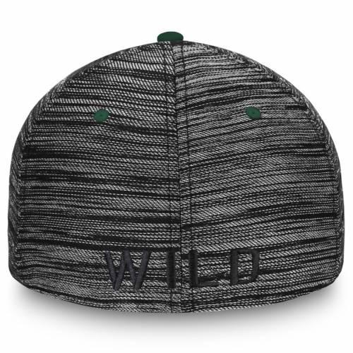 FANATICS BRANDED ミネソタ ワイルド 黒 ブラック バッグ キャップ 帽子 メンズキャップ メンズ 【 Minnesota Wild Versalux Tonal Flex Hat - Black 】 Black