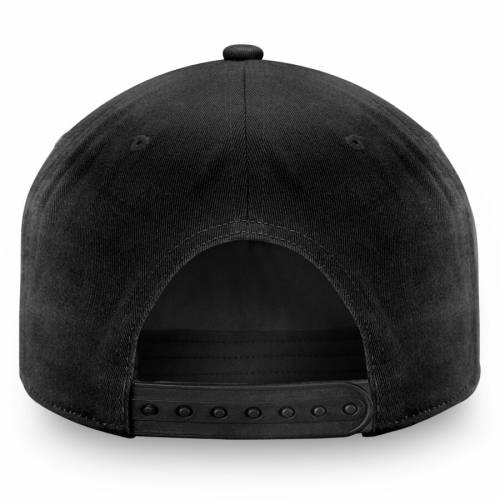 FANATICS BRANDED ピッツバーグ 黒 ブラック バッグ キャップ 帽子 メンズキャップ メンズ 【 Pittsburgh Penguins Elemental Slouch Adjustable Hat - Black 】 Black