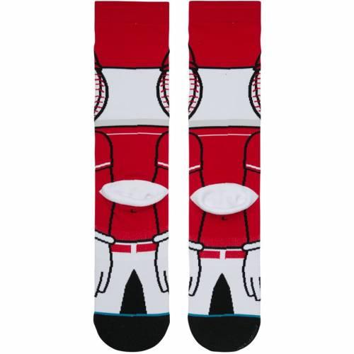 スタンス STANCE シンシナティ レッズ ソックス 靴下 インナー 下着 ナイトウエア メンズ 下 レッグ 【 Cincinnati Reds Mascot Crew Socks 】 Color