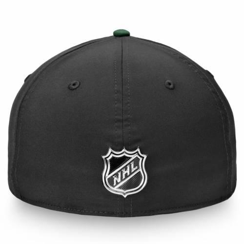 FANATICS BRANDED ミネソタ ワイルド 黒 ブラック バッグ キャップ 帽子 メンズキャップ メンズ 【 Minnesota Wild 2019 Nhl Draft Flex Hat - Black 】 Black