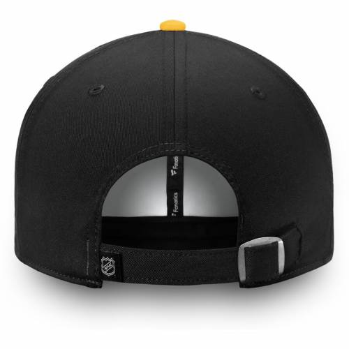FANATICS BRANDED ピッツバーグ バッグ キャップ 帽子 メンズキャップ メンズ 【 Pittsburgh Penguins Iconic Fundamental Adjustable Hat - White/gold 】 White/gold