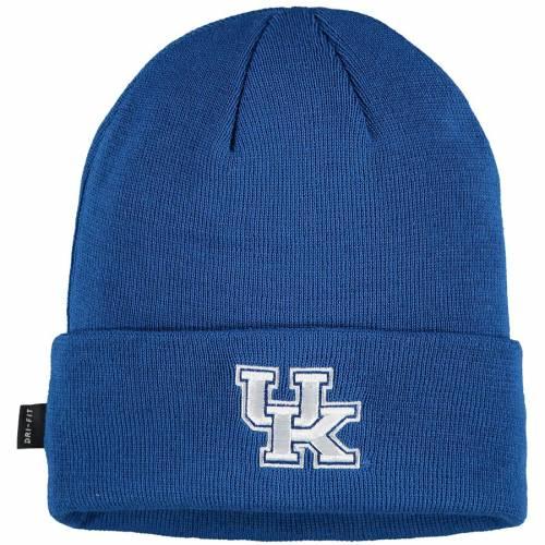 ナイキ NIKE ケンタッキー サイドライン パフォーマンス ニット バッグ キャップ 帽子 メンズキャップ メンズ 【 Kentucky Wildcats Sideline Performance Cuffed Knit Hat - Royal 】 Royal