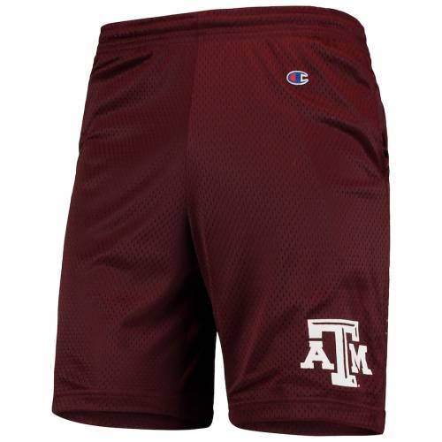 チャンピオン CHAMPION テキサス カレッジ ショーツ ハーフパンツ メンズファッション ズボン パンツ メンズ 【 Texas Aandm Aggies College Mesh Shorts - Maroon 】 Maroon