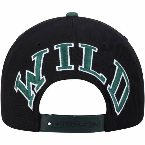 AMERICAN NEEDLE ミネソタ ワイルド スナップバック バッグ キャップ 帽子 メンズキャップ メンズ 【 Minnesota Wild Blockhead Snapback Hat - Black/green 】 Black/green