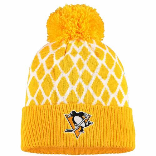 アディダス ADIDAS ピッツバーグ ニット バッグ キャップ 帽子 メンズキャップ メンズ 【 Pittsburgh Penguins Culture Netminder Cuffed Knit Hat - Gold 】 Gold
