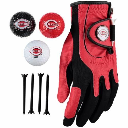 ZERO FRICTION BY TEAM GOLF シンシナティ レッズ ゴルフ Tシャツ グローブ グラブ 手袋 Balls, スポーツ アウトドア メンズ 【 Cincinnati Reds Golf Balls, Tees And Glove Set 】 Color