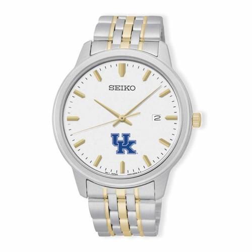 SEIKO ケンタッキー ブレスレット ウォッチ 時計 銀色 シルバー 金色 ゴールド 【 WATCH SILVER SEIKO KENTUCKY WILDCATS PRIME BRACELET GOLD 】 腕時計 メンズ腕時計
