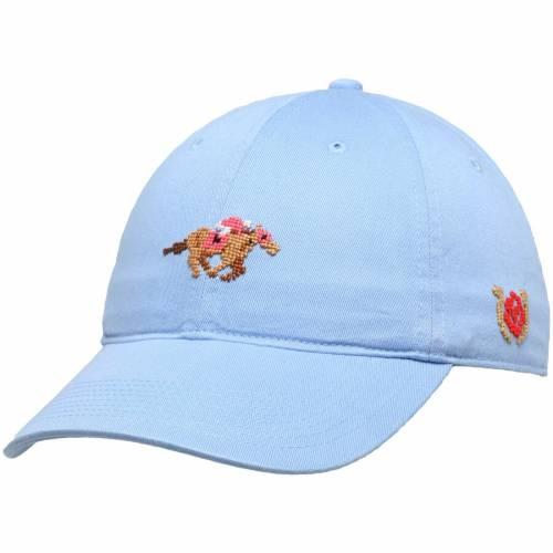 SMATHERS & BRANSON ケンタッキー 青 ブルー バッグ キャップ 帽子 メンズキャップ メンズ 【 Kentucky Derby Needlepoint Adjustable Hat - Light Blue 】 Light Blue