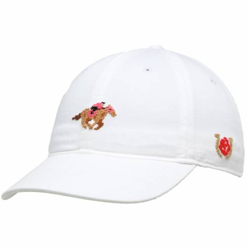 SMATHERS & BRANSON ケンタッキー 青 ブルー バッグ キャップ 帽子 メンズキャップ メンズ 【 Kentucky Derby Needlepoint Adjustable Hat - Light Blue 】 White