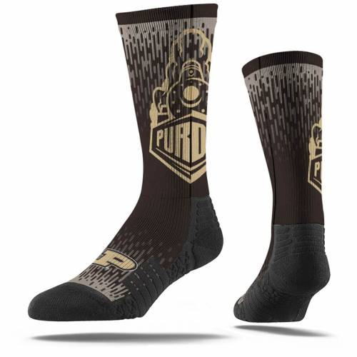 STRIDELINE ロゴ ソックス 靴下 【 STRIDELINE PURDUE BOILERMAKERS FULL SUBLIMATED LOGO CREW SOCKS COLOR 】 インナー 下着 ナイトウエア メンズ 下 レッグ