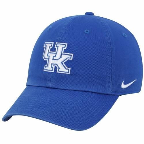 ナイキ NIKE ケンタッキー ロゴ パフォーマンス バッグ キャップ 帽子 メンズキャップ メンズ 【 Kentucky Wildcats Heritage 86 Logo Performance Adjustable Hat - Royal 】 Royal