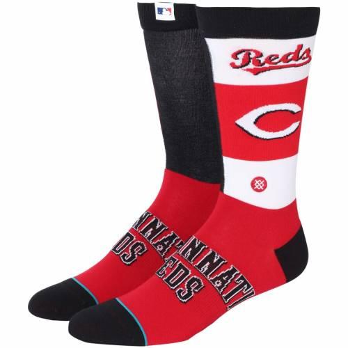 スタンス STANCE シンシナティ レッズ ソックス 靴下 インナー 下着 ナイトウエア メンズ 下 レッグ 【 Cincinnati Reds Pop Fly Crew Socks 】 Color