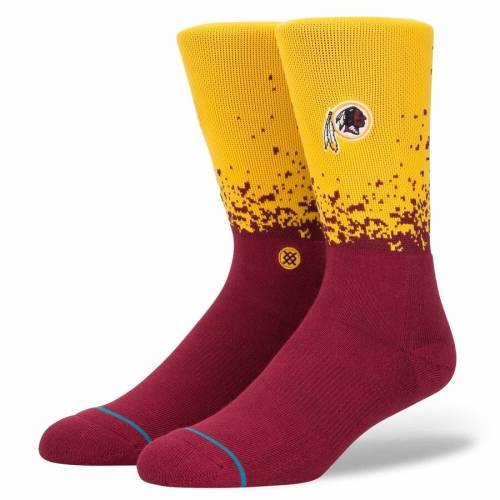 スタンス STANCE ワシントン レッドスキンズ ソックス 靴下 インナー 下着 ナイトウエア メンズ 下 レッグ 【 Washington Redskins Fade Crew Socks 】 Color