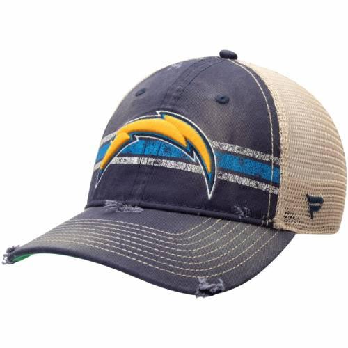 NFL PRO LINE BY FANATICS BRANDED チャージャーズ クラシック トラッカー 紺 ネイビー バッグ キャップ 帽子 メンズキャップ メンズ 【 Los Angeles Chargers True Classic Striped Trucker Adjustable Hat - Navy 】 Na