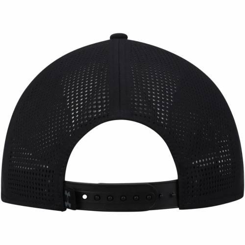アンダーアーマー UNDER ARMOUR メッツ トラッカー スナップバック バッグ 黒 ブラック キャップ 帽子 メンズキャップ メンズ 【 New York Mets Tonal Camo Trucker Snapback Adjustable Hat - Black 】 Black