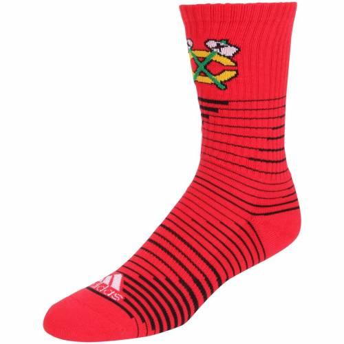 アディダス ADIDAS シカゴ リーボック ソックス 靴下 インナー 下着 ナイトウエア メンズ 下 レッグ 【 Chicago Blackhawks Reebok Pattern Crew Socks 】 Color