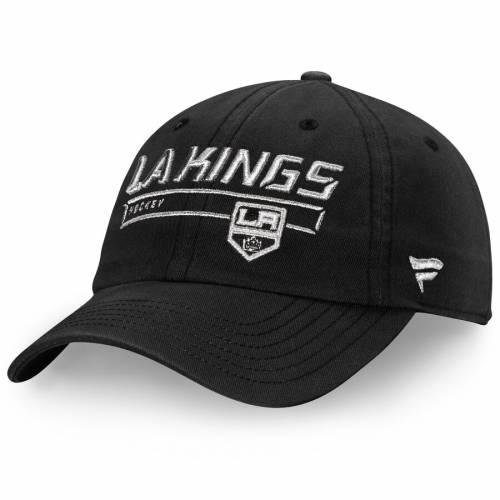 FANATICS BRANDED キングス オーセンティック プロ 黒 ブラック バッグ キャップ 帽子 メンズキャップ メンズ 【 Los Angeles Kings Authentic Pro Rinkside Fundamental Adjustable Hat - Black 】 Black