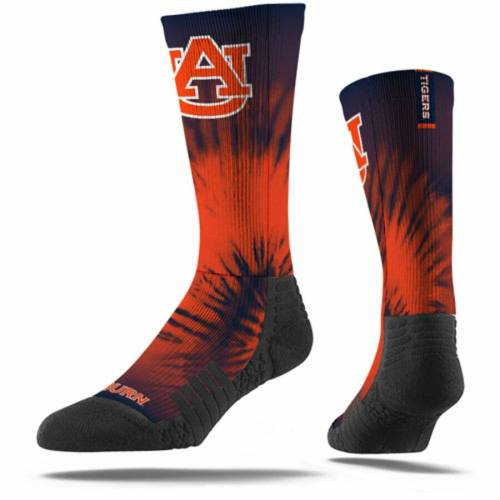 STRIDELINE タイガース ソックス 靴下 インナー 下着 ナイトウエア メンズ 下 レッグ 【 Auburn Tigers Tye Dye Crew Socks 】 Color
