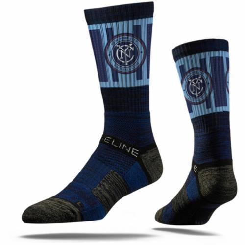 STRIDELINE シティ プレミアム ソックス 靴下 紺 ネイビー インナー 下着 ナイトウエア メンズ 下 レッグ 【 New York City Fc Premium Crew Socks - Navy 】 Navy