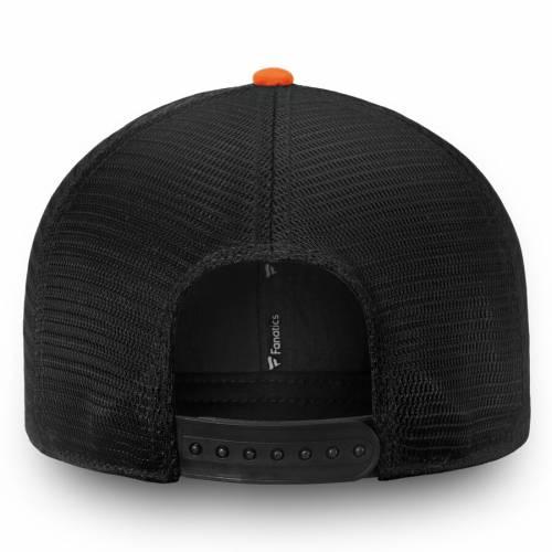 FANATICS BRANDED フィラデルフィア チーム トラッカー スナップバック バッグ 黒 ブラック キャップ 帽子 メンズキャップ メンズ 【 Philadelphia Flyers Iconic Team Pop Trucker Adjustable Snapback Hat - Black