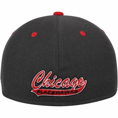 アディダス ADIDAS シカゴ バッグ キャップ 帽子 メンズキャップ メンズ 【 Chicago Blackhawks Two Tone Fitted Hat - Gray/red 】 Gray/red