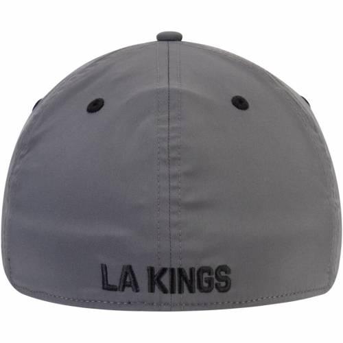 アディダス ADIDAS キングス チーム ロゴ バッグ キャップ 帽子 メンズキャップ メンズ 【 Los Angeles Kings Sport Team Logo Slouch Flex Hat - Black/gray 】 Black/gray