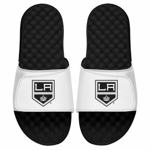 ISLIDE キングス ロゴ サンダル 白 ホワイト 【 KINGS SLIDE WHITE ISLIDE LOS ANGELES PRIMARY LOGO SANDALS 】 メンズ サンダル スポーツサンダル
