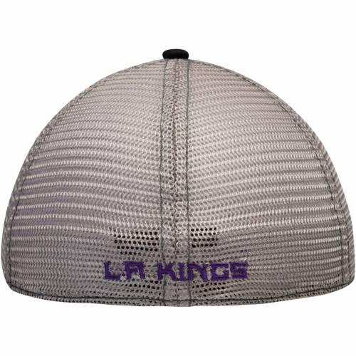 アディダス ADIDAS キングス バッグ キャップ 帽子 メンズキャップ メンズ 【 Los Angeles Kings Slouch Mesh Back Flex Hat - Black/gray 】 Black/gray
