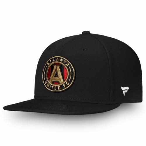 FANATICS BRANDED アトランタ スナップバック バッグ 黒 ブラック キャップ 帽子 メンズキャップ メンズ 【 Atlanta United Fc Primary Emblem Snapback Adjustable Hat - Black 】 Black