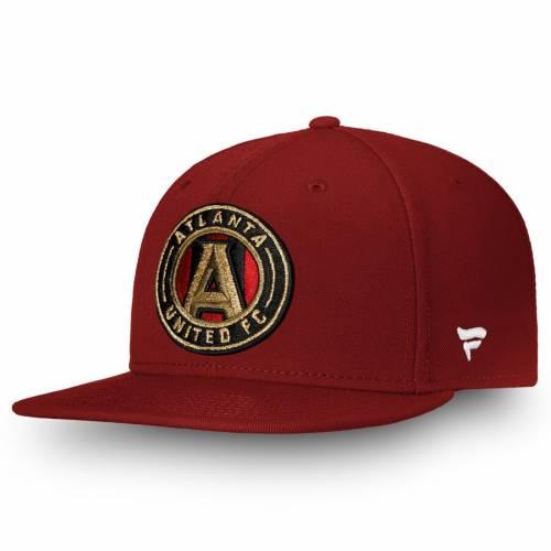 FANATICS BRANDED アトランタ スナップバック バッグ 黒 ブラック キャップ 帽子 メンズキャップ メンズ 【 Atlanta United Fc Primary Emblem Snapback Adjustable Hat - Black 】 Red