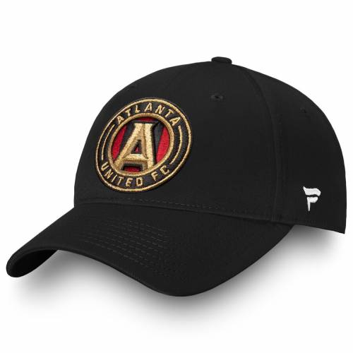 FANATICS BRANDED アトランタ アルファ コア 黒 ブラック バッグ キャップ 帽子 メンズキャップ メンズ 【 Atlanta United Fc Alpha Core Adjustable Hat - Black 】 Black