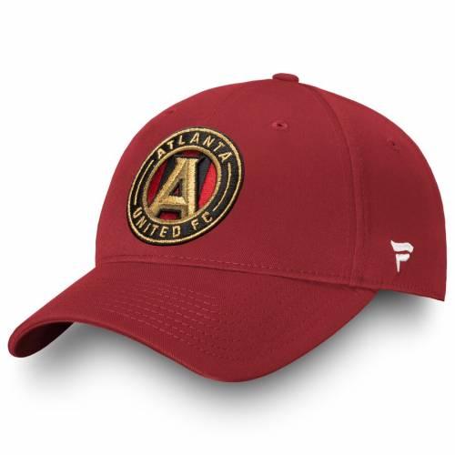 FANATICS BRANDED アトランタ アルファ コア 黒 ブラック バッグ キャップ 帽子 メンズキャップ メンズ 【 Atlanta United Fc Alpha Core Adjustable Hat - Black 】 Red
