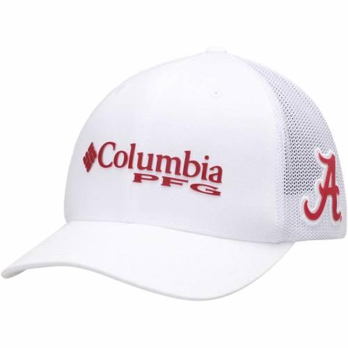 コロンビア COLUMBIA アラバマ バッグ キャップ 帽子 メンズキャップ メンズ 【 Alabama Crimson Tide Collegiate Pfg Flex Hat - Crimson 】 White