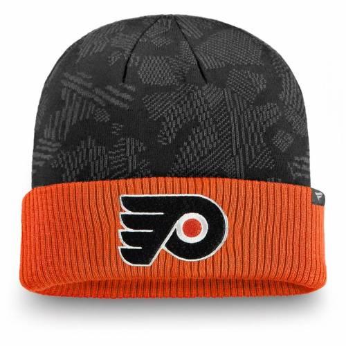 FANATICS BRANDED フィラデルフィア ニット バッグ キャップ 帽子 メンズキャップ メンズ 【 Philadelphia Flyers Iconic Cuffed Knit Hat - Black/orange 】 Black/orange