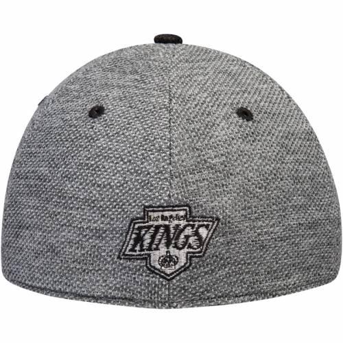 アディダス ADIDAS キングス バッグ キャップ 帽子 メンズキャップ メンズ 【 Los Angeles Kings Culture Two Tone Felt Structured Flex Hat - Gray/black 】 Gray/black