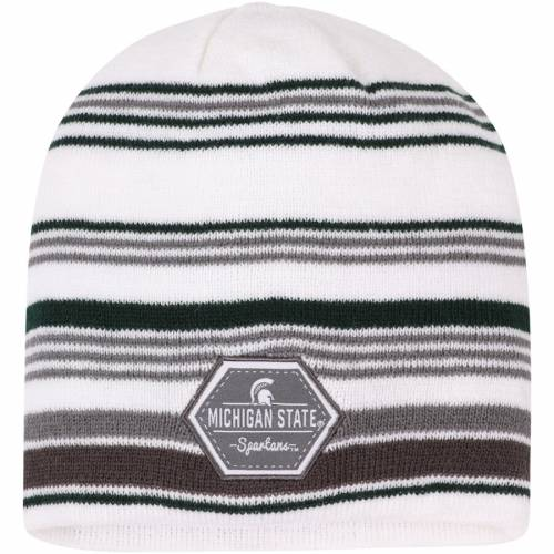 TOP OF THE WORLD ミシガン スケートボード ニット キャップ 帽子 白 ホワイト バッグ メンズキャップ メンズ 【 Michigan State Spartans Channel Knit Beanie - White 】 White