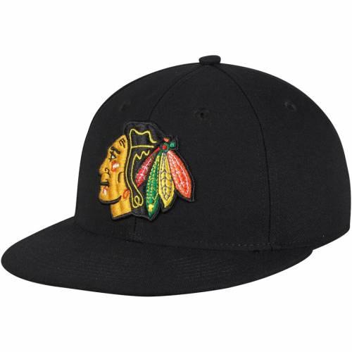 アディダス ADIDAS シカゴ 黒 ブラック バッグ キャップ 帽子 メンズキャップ メンズ 【 Chicago Blackhawks Basic Fitted Hat - Black 】 Black