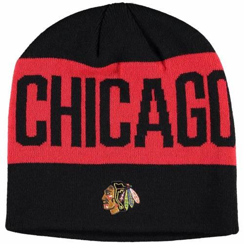 アディダス ADIDAS シカゴ シティ キャップ 帽子 黒 ブラック バッグ メンズキャップ メンズ 【 Chicago Blackhawks Sport City Above Beanie - Black 】 Black