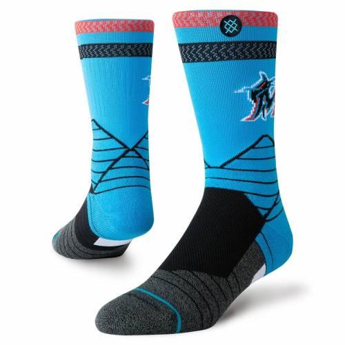 スタンス STANCE マイアミ マーリンズ ロゴ ダイヤモンド プロ ソックス 靴下 インナー 下着 ナイトウエア メンズ 下 レッグ 【 Miami Marlins Alternate Logo Diamond Pro Crew Socks 】 Color