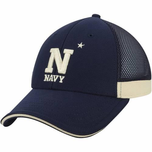 アンダーアーマー UNDER ARMOUR 紺 ネイビー チーム ロゴ サイドライン バッグ キャップ 帽子 メンズキャップ メンズ 【 Navy Midshipmen Team Logo Sideline Blitzing Accent Flex Hat - Navy 】 Navy